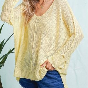 FINE KNIT CASUAL KNIT ~ SPRING COLOR